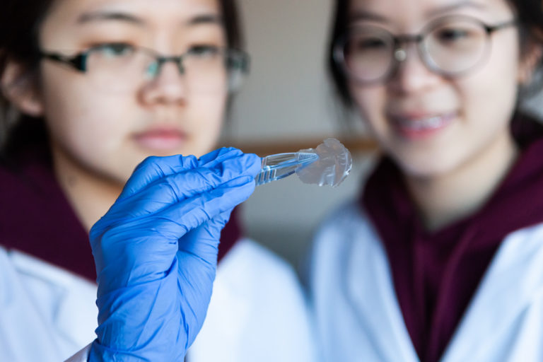 Students develop biocompatible material made out of chitosan and liquid silk